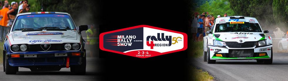 Salice Terme. Ritorna il Rally 4 Regioni dal 2 al 4 luglio 2021 nella 50° edizione